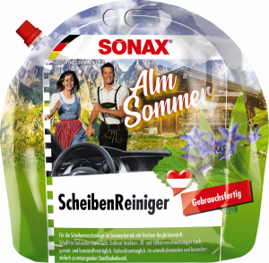 Produktpackshots Scheibenreiniger AlmSommer